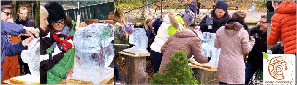 Erlebe das Eis Skulpturen schnitzen als Mitmachkunst!
