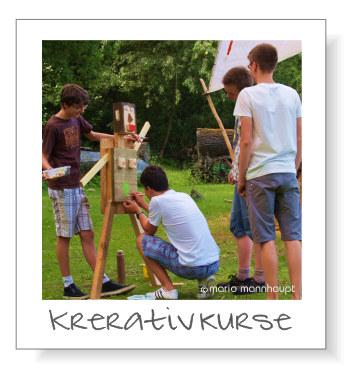Kreativkurse mit Schulklassen