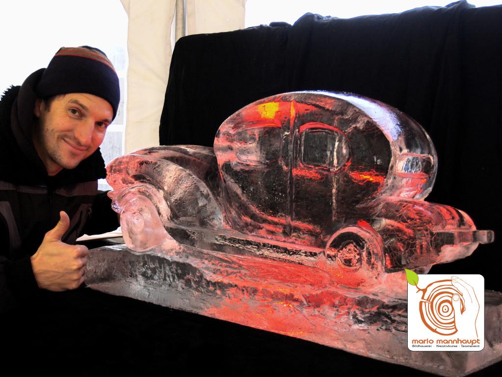 Eien Auto aus einem Eisblock selber erschaffen!