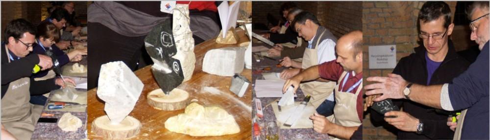 Teamevent Stein Bildhauerei