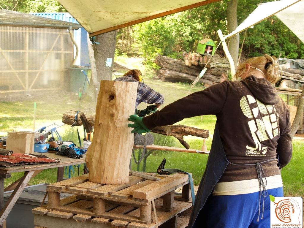 Photo 2 Kreatives Arbeiten Mit Holz   Antje Auf Dem Kreativplatz Luckenwalde