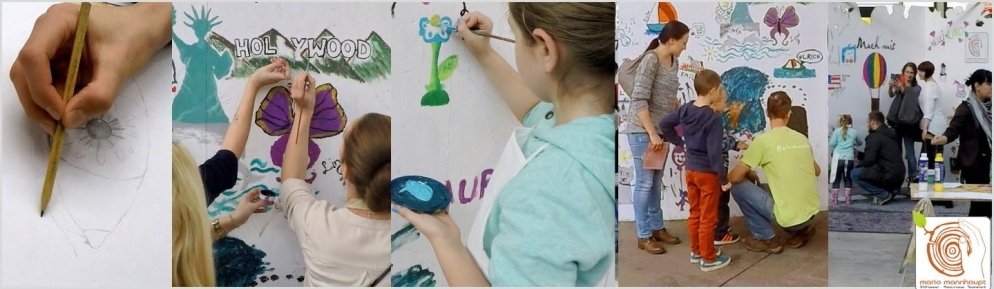 Bilder mit Farbe an die Wand malen