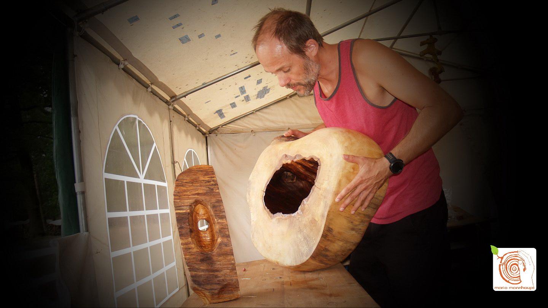 Holzgestaltung auf dem Kreativplatz Luckenwalde selbst ausprobieren.