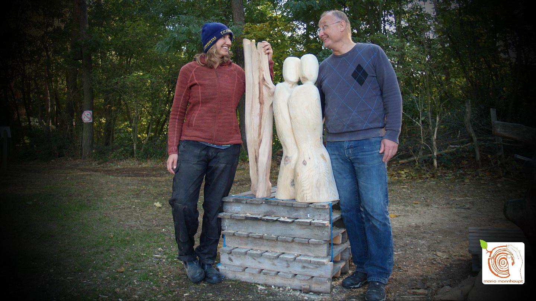Künstler Mario Mannhaupt lehrt Holzbildhauerei