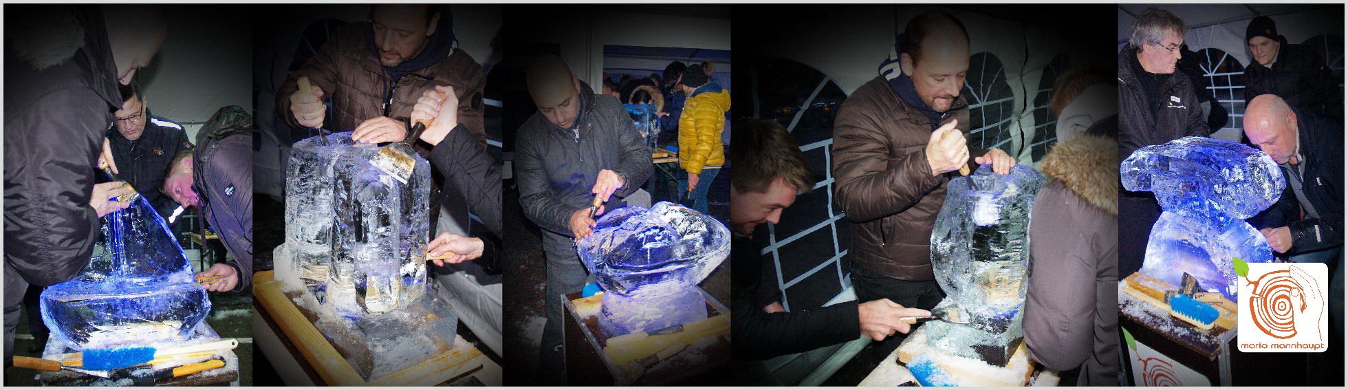 Teamevent Eisschnitzen mit dem Künstler Mario Mannhaupt