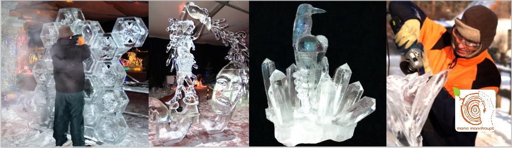Live Eis Skulpturen schnitzen