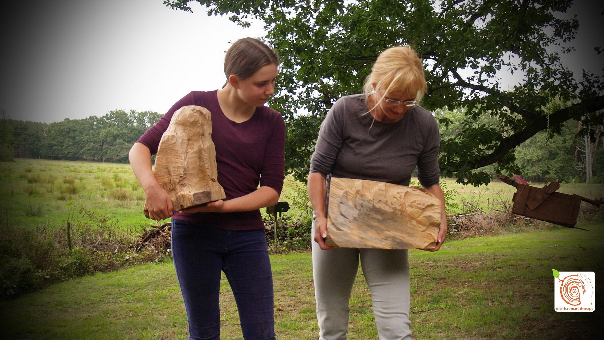 Schnitzen mit Holz bei mario mannhaupt lernen