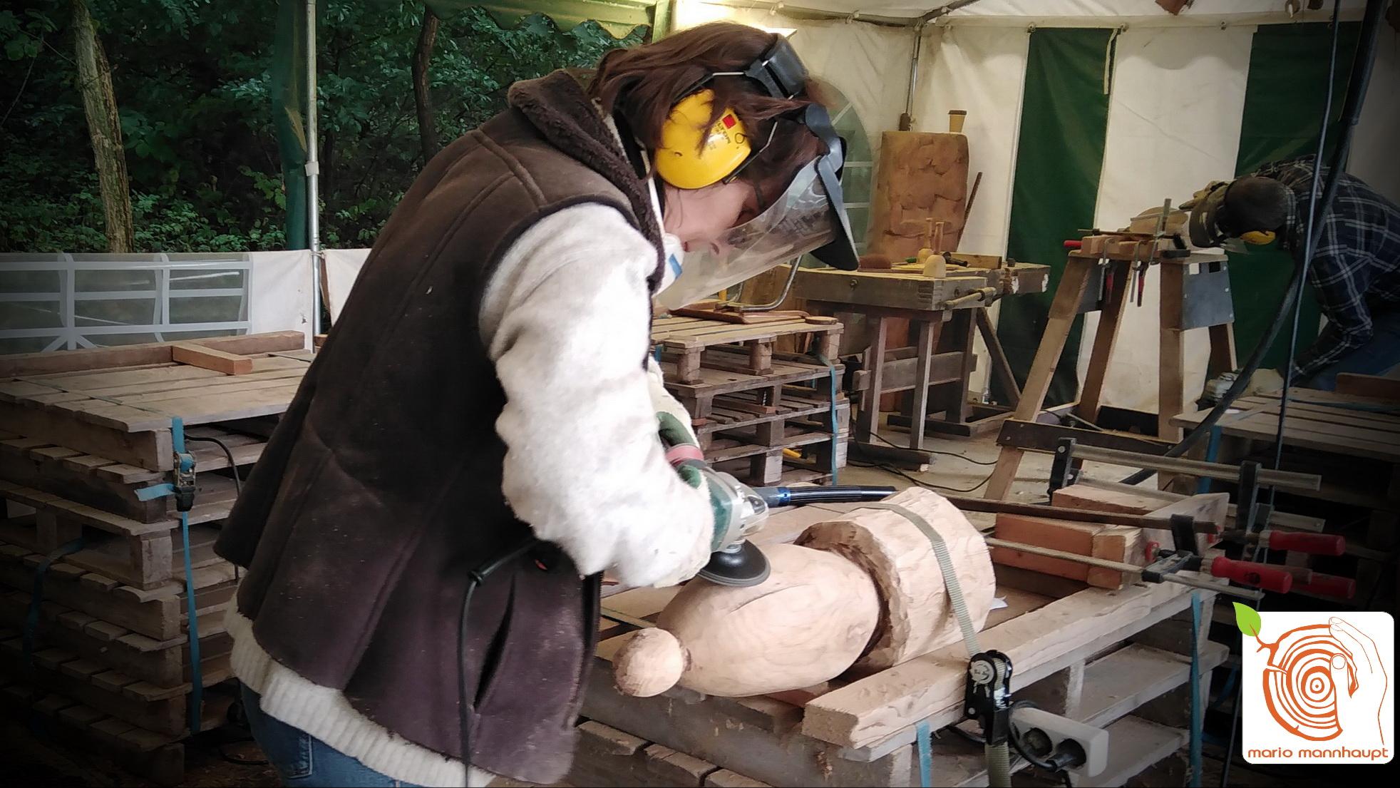 Bildhauerei im Holzbildhauerkurs K1 erlernen in Luckenwalde bei Berlin